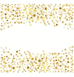 Gold stars Holiday background vector