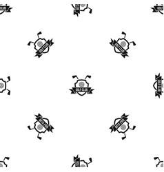 Golf club emblem pattern seamless black vector