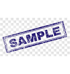 Grunge sample rectangle stamp vector