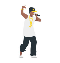 hip hop young singer vector image