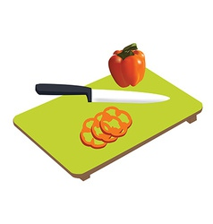 Kitchen board vector image