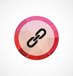 Link circle pink triangle background icon vector