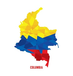 Map of Columbia vector