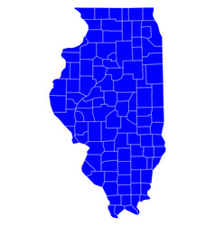 map of illinois vector image
