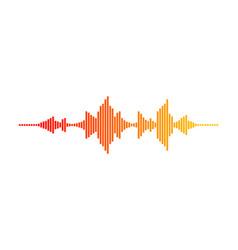 Music wave digital waveform sound frequencies vector