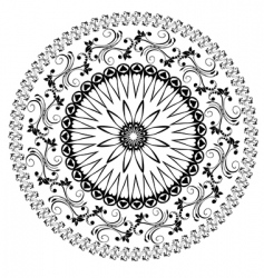 oriental arabesques pattern vector image