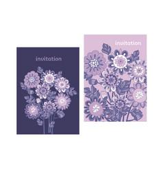 ornate flowers bouquets color vector image