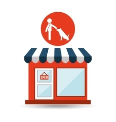 Pet shop with avatar dog obedience vector