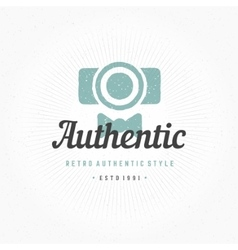 Photographer Hand Drawn Logo Template vector image vector image