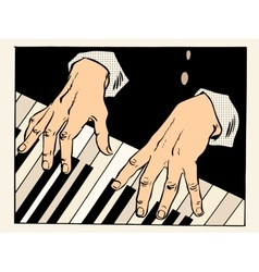 Piano keys pianist hands vector