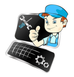 repair of computer equipment vector image