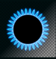 Round blue flame vector