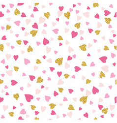 Seamless background with golden and pink vector