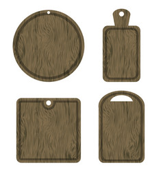 Set of different wood cutting boards vector