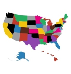 Set of US state maps vector image