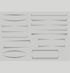 set realistic transparent shadows or paper vector image