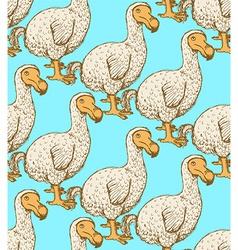 Sketch dodo bird in vintage style vector
