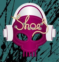 sneaker skull vector image