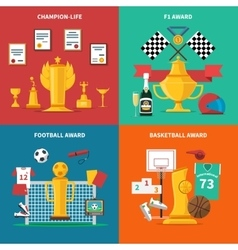Sport Awards Icons Set vector image