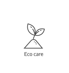sprout eco care thin line icon vector image