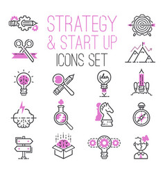 startup project outline web busies sblack vector image