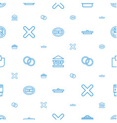 Sticker icons pattern seamless white background vector