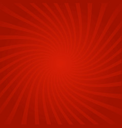 sun rays red background spiral vector image