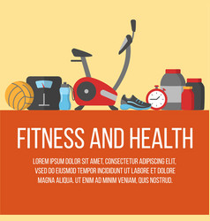 time for fitness poster vector image