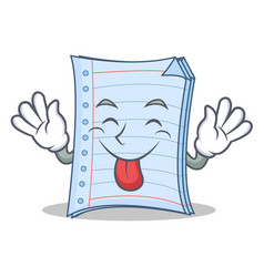 Tongue out notebook character cartoon design vector