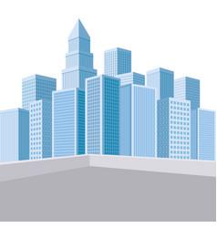 urban landscape skyscrapers vector image