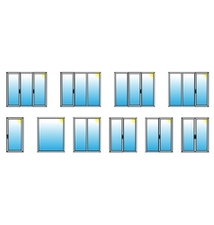 Varieties of PVC windows vector image