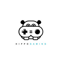 Video game joystick console theme logo template vector