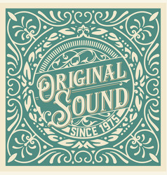 vintage logo template business identity design vector image