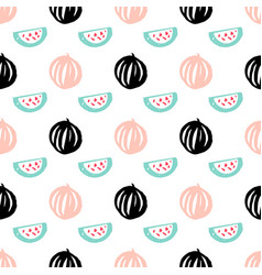 watermelon berry seamless pattern vector image