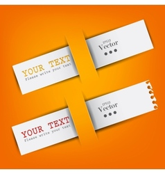 white paper bookmarks with place for text vector image