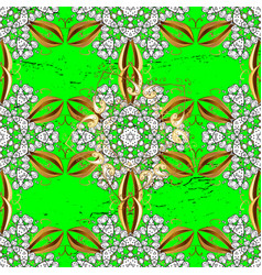 White pattern green and white background with vector
