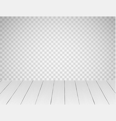 White realistic wooden table top or floor vector