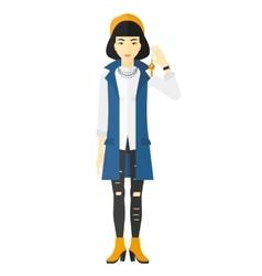Woman holding keys vector