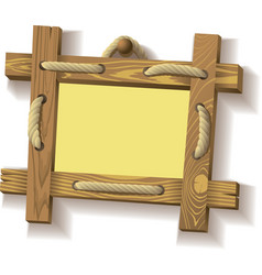 wooden frame with rope vector image