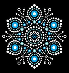 christmas snowflake dot art design vector image vector image