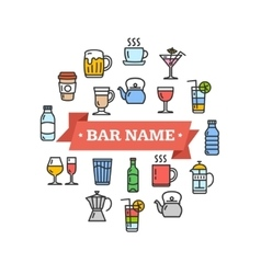Drink Sign vector image vector image