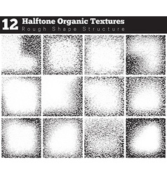 Set of halftone overlay textures vector image
