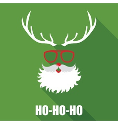 Christmas Retro Santa Card vector image vector image