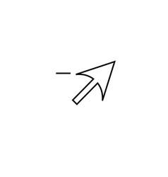 delete cursor icon vector image vector image