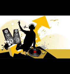 dj mixing music concept vector image