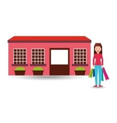 girl shopping bags gift lifestyle vector image