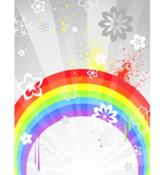 gray background with a rainbow vector image vector image