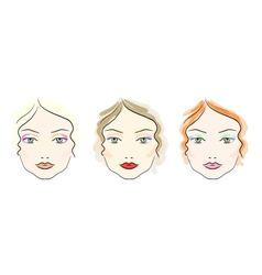 Make up scheme vector image vector image