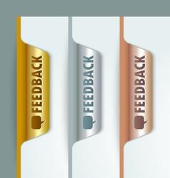 Metallic bookmarks vector image vector image