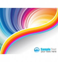 business rainbow vector image vector image